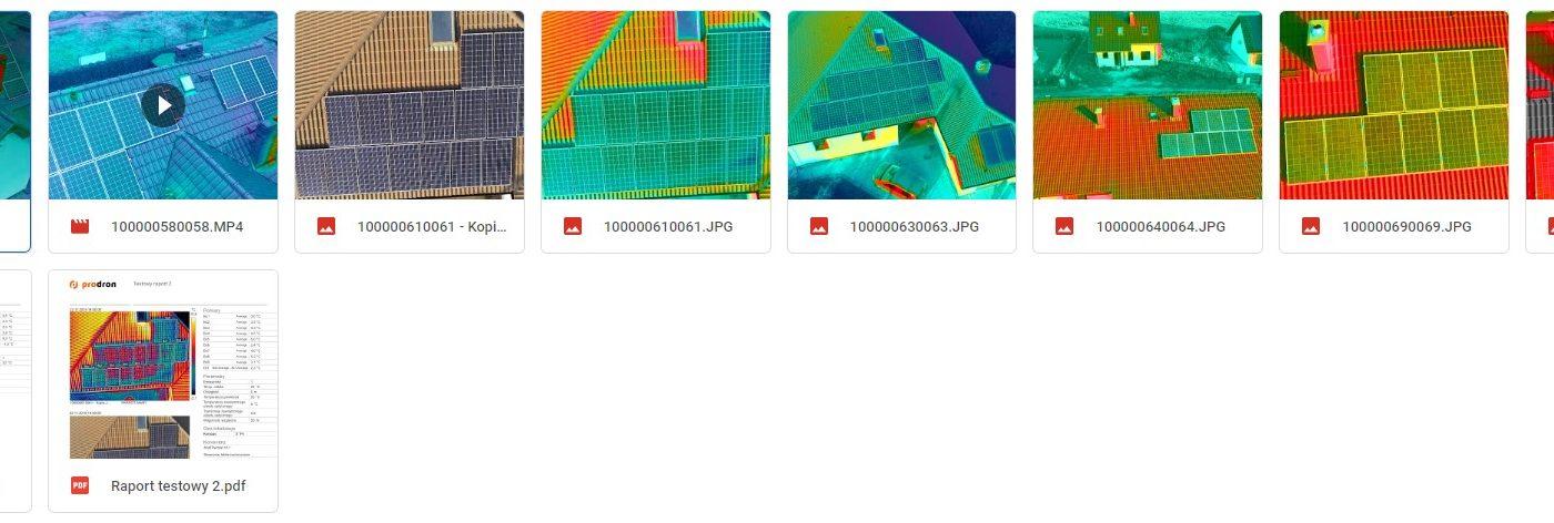 Dron Anafi Thermal badanie termowizyjne fotowoltaiki - przykładowe zdjęcia i raporty