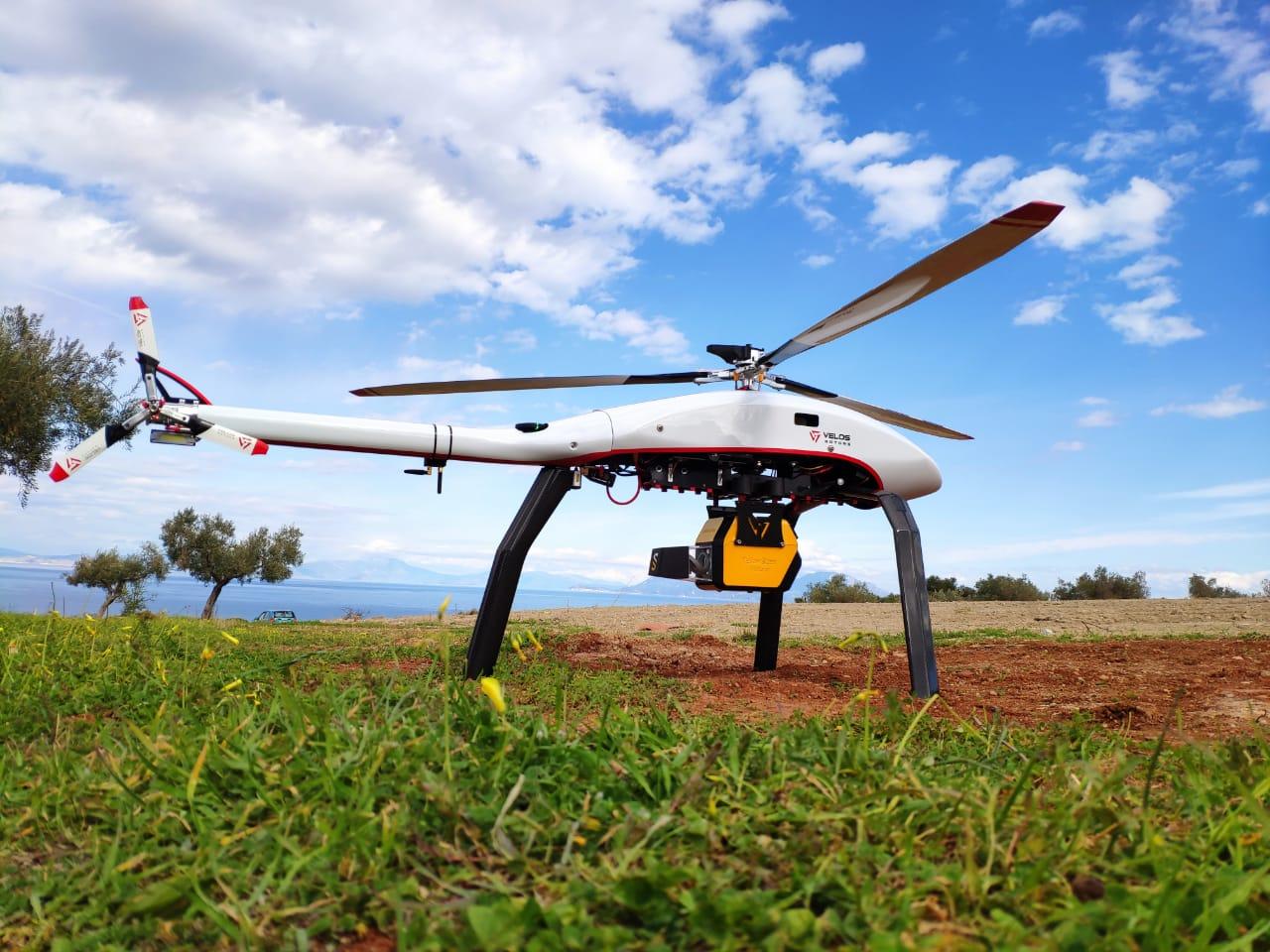 Dron helikopter bezzałogowy Lidar